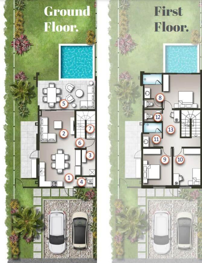 Floor Plans - Typical Duplexes layout- First Floor