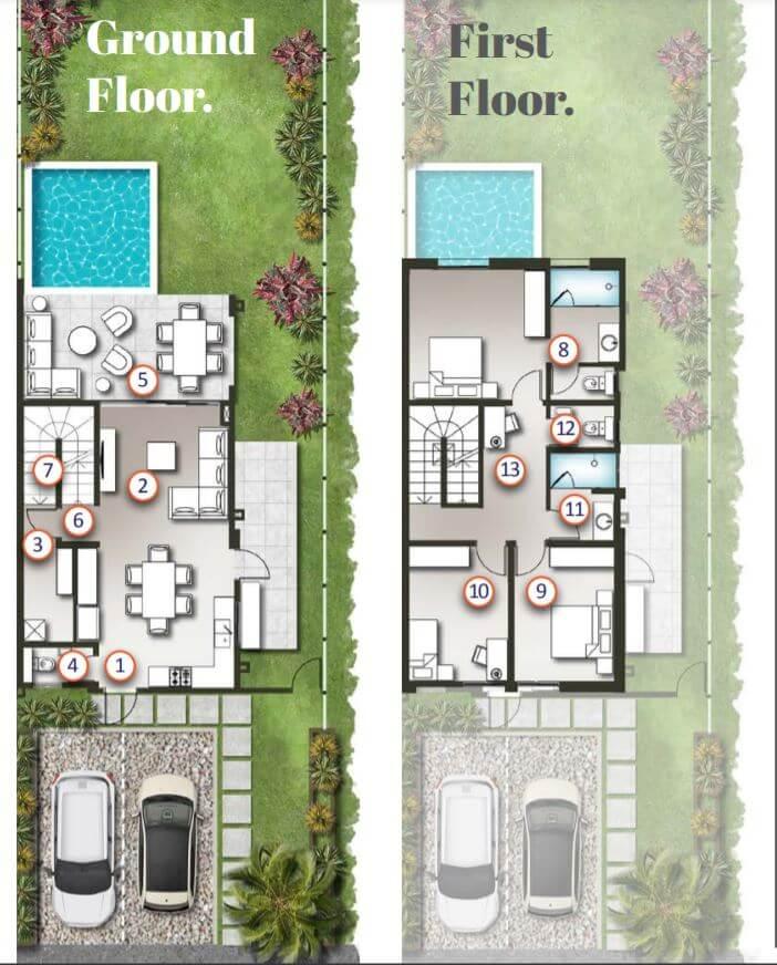 Typical Duplexes layout- Ground Floor