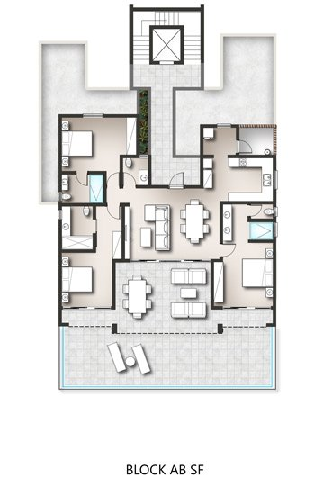 Penthouses - Block A/B Second Floor