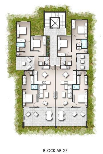 Floor Plans - Apartments - Block A/B Ground Floor & First Floor