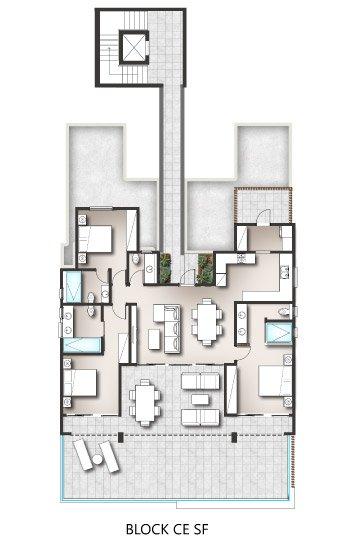 Penthouses - Block C/E Second Floor