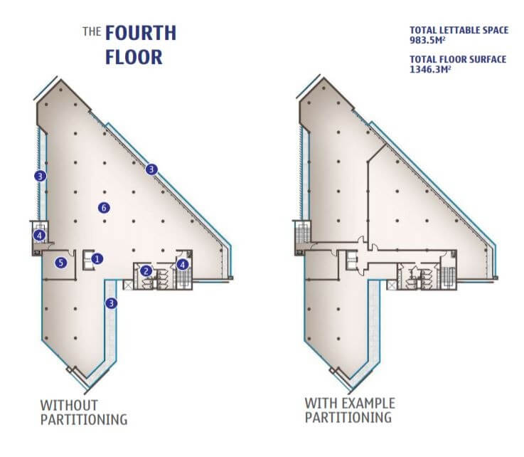 Fourth Floor (with or without partitioning)