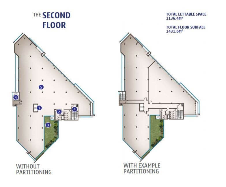Second Floor (with or without partitioning)