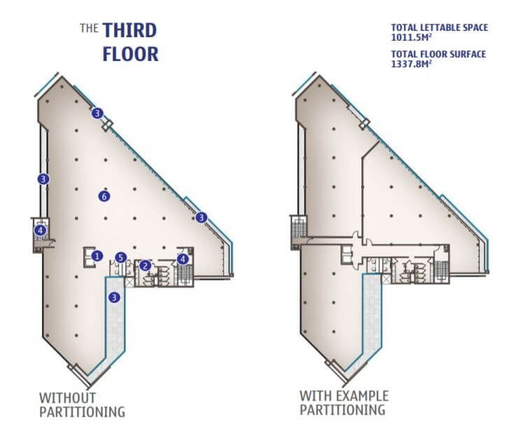 Third Floor (with or without partitioning)