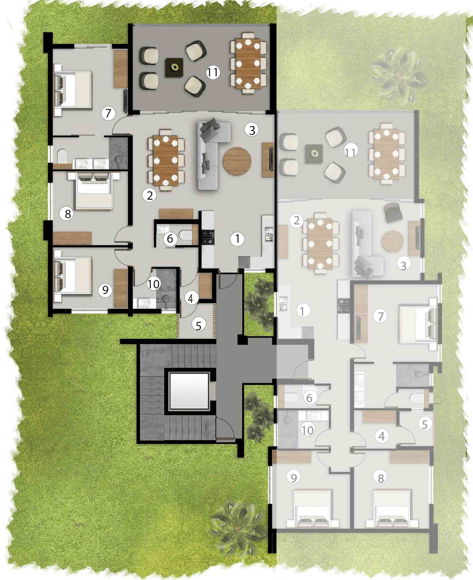 Apartments First Floor - AF1/BF2/CF1