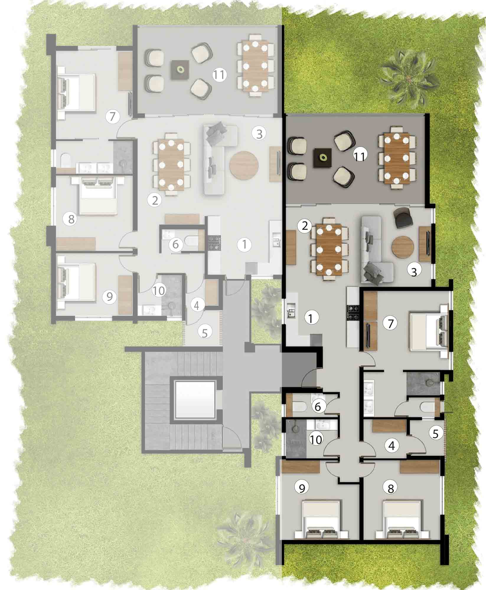 Apartments First Floor AF2/BF1/CF2